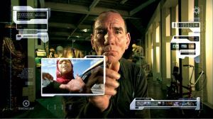 Pete Postlethwaite as an old man living in the devastated world of 2055, watching 'archive' footage from 2008 and asking: why didn't we stop climate change while we had the chance?